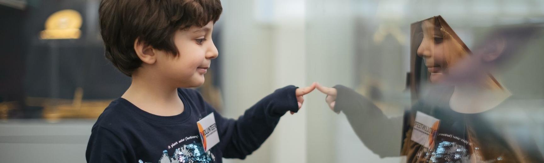 Young Multaka volunteer explores the History of Science Museum
