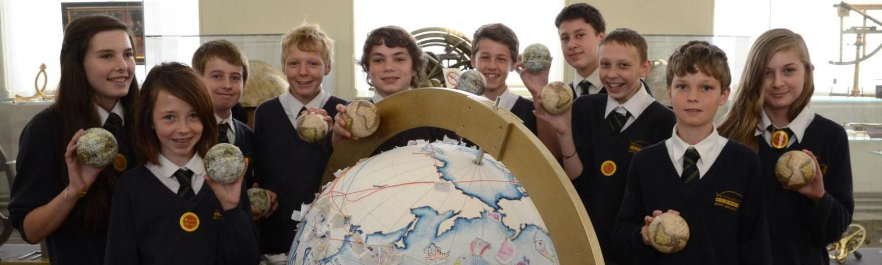 Renaissance Globe Project featuring globe makers