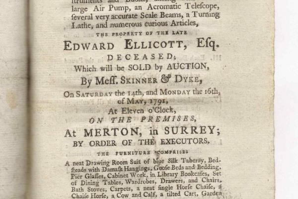 Auction catalogue: Ellicott