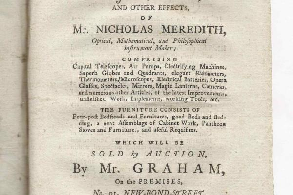 Auction catalogue: Meredith