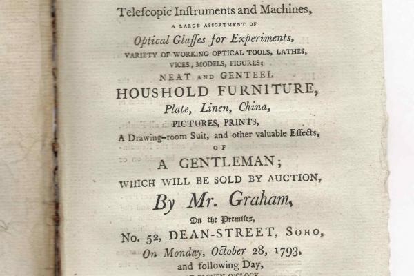 Auction catalogue: a gentleman