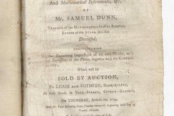 Auction catalogue: Samuel Dunn
