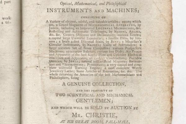 Auction catalogue: two scientific and mechanical gentlemen