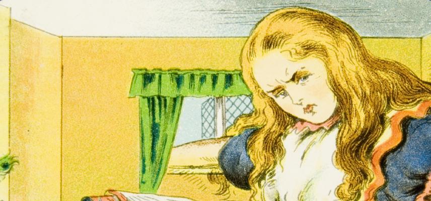 04 Alice Lantern Slides Inside the White Rabbit's house 1800x840px