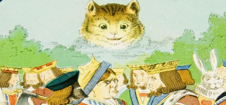 18 Alice Magic Lantern The Cheshire Cat escapes his fate 1800x840px