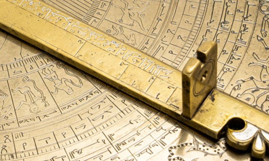 37148 Astrolabe with lunar mansions (Back detail) 1800 x 840 px