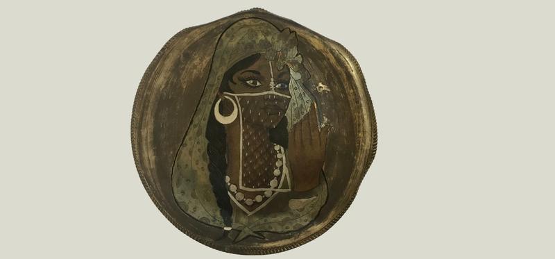 Rana Ibrahim's metal engraving of an Egyptian woman 04
