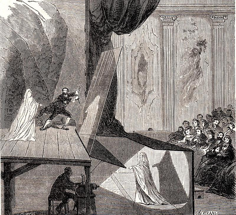 841px peppers ghost stage set up 1862 le monde illustre