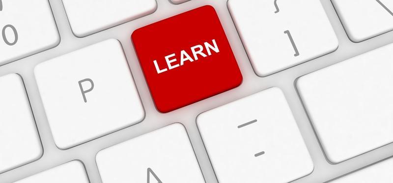 Learn key in red on keyboard