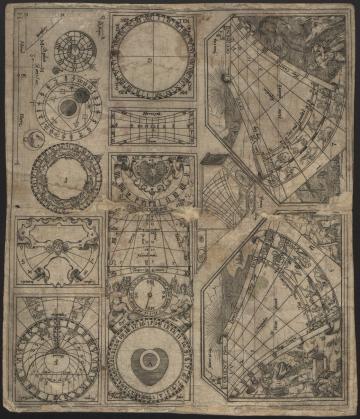 Print (Engraving) Portable sundial, by Georg Brente